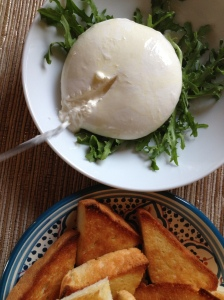 "creamy, awesome buratta, and it's ""little rags""..."