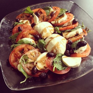 Caprese Salad with vegan buffalo mozzarella.   Credit: Miyoko Schinner